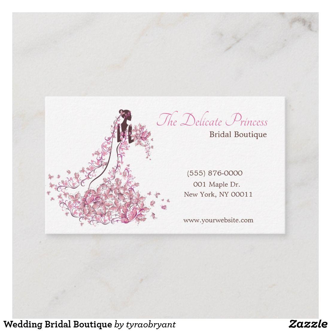 Wedding Bridal Boutique Business Card Zazzle Com In 2021 Boutique Business Cards Wedding Shop Wedding Cards Handmade