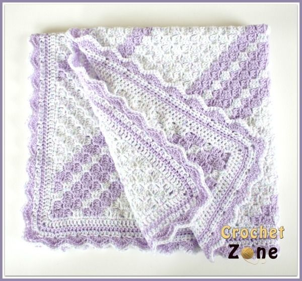 Lavender Baby Blanket Crochet Pattern | Manta, Colchas y Colchas ...