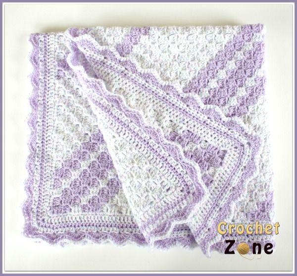 Lavender Baby Blanket Crochet Pattern Baby Blanket