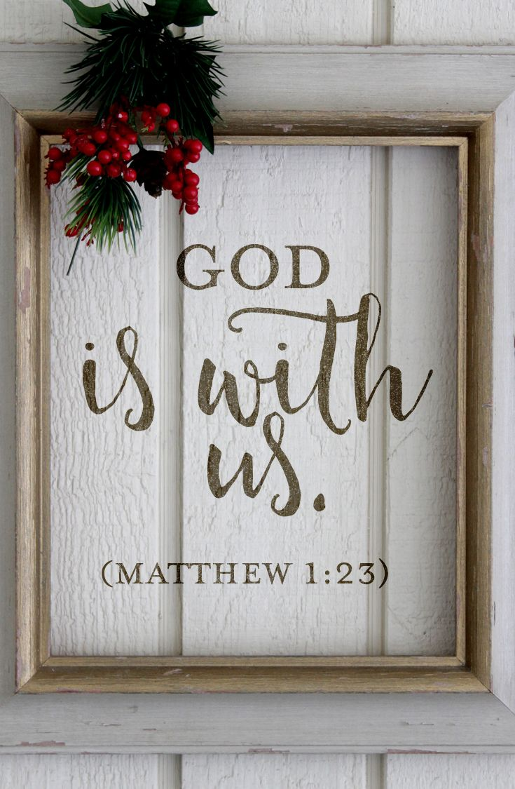 Christmas Quote // Scripture // Scripture Quote // God With Us