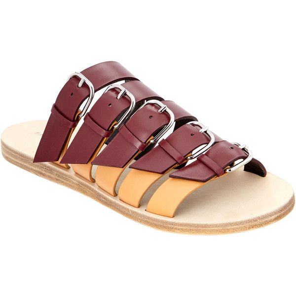 Balenciaga Bicolor Belted Leather Sandal (18.025 RUB) ❤ liked on Polyvore featuring shoes, sandals, red, leather sandals, red leather sandals, genuine leather shoes, balenciaga shoes and real leather shoes