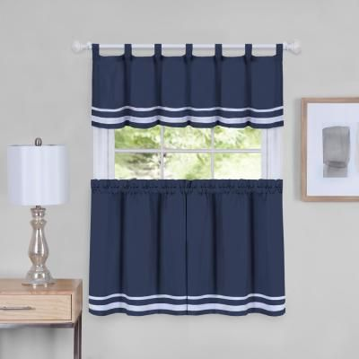 Achim Dakota 58 In W X 24 In L Polyester Tier And Valance