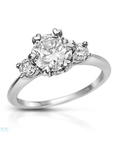Ritani Ladies Ring Designed In Platinum Platinum Diamond Women