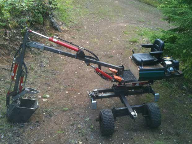 Homemade Excavator Farm Equip Diy Tools Mini