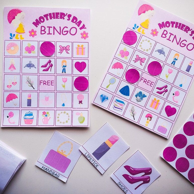 Mothers Day BINGO game Mother's Day BINGO cards Etsy in