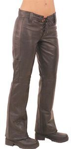 Bell Bottom Lace Up Leather Pants Jamin Leather Exclusive! - $119