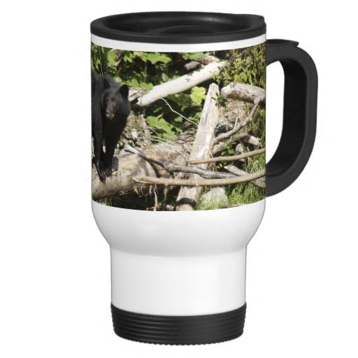 Walking Wild Grizzly Bear Wildlife Photo Travel Mug