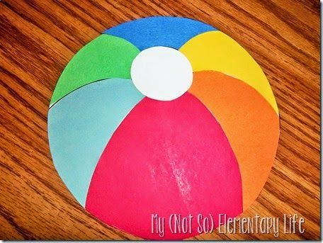 Beach Ball Craft Writing Activity Book That Makes A Great End Of The Year Bulletin