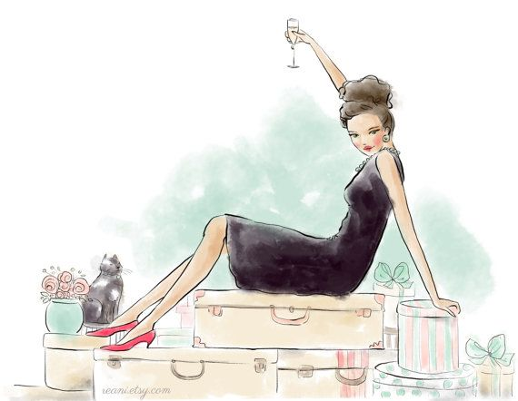 Fashion Illustration with Custom Blog Banner Design by by Reani