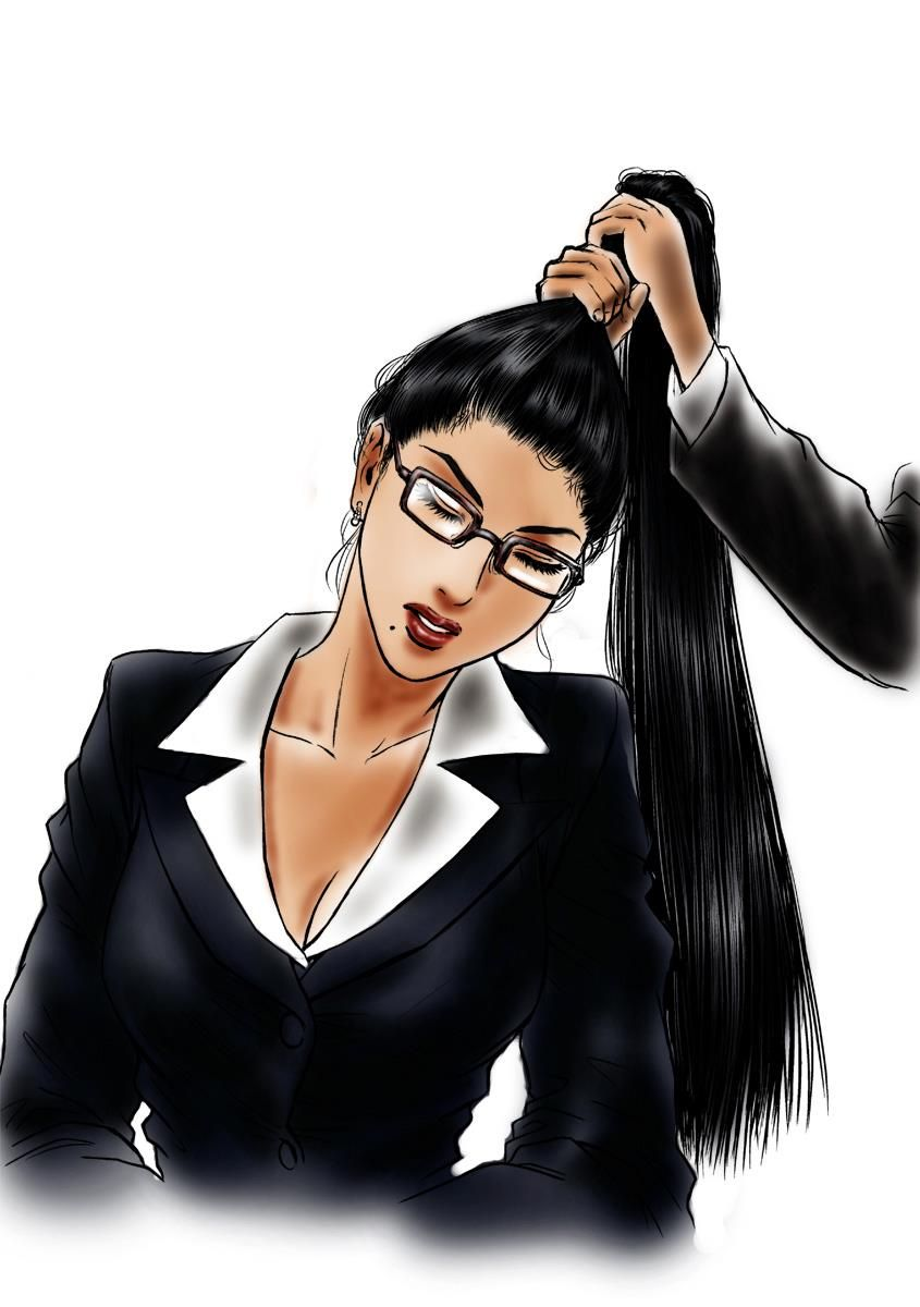 Indian Headshave Stories Young Business Women Pony Tail Chop Bun Chop