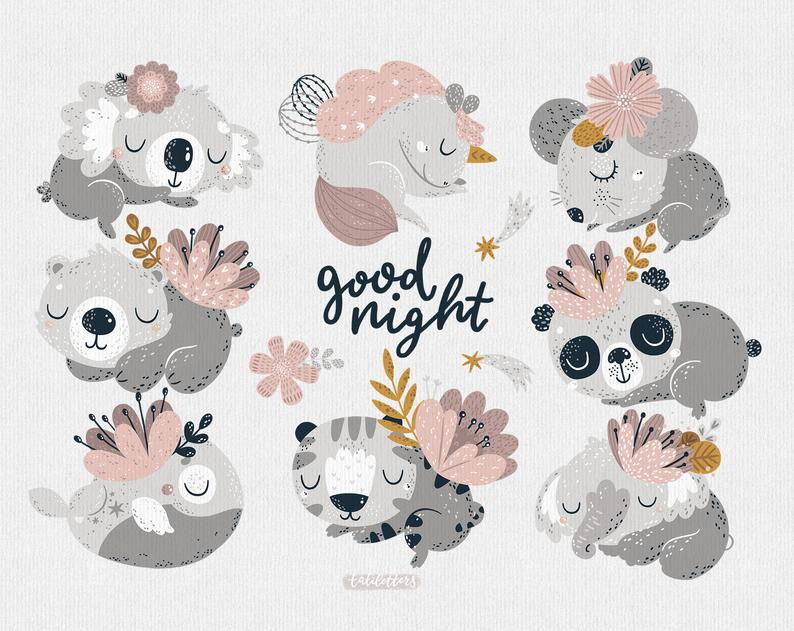 Spring Animal Clipart Baby Panda Clipart Cute Tiger Png Etsy In 2021