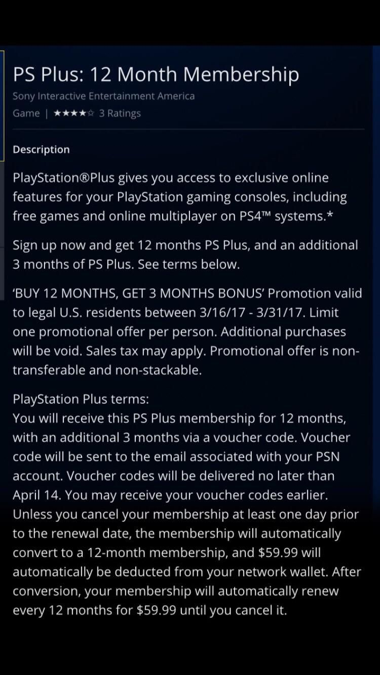 screenshot] PlayStation Store US giving 3 months free on ps