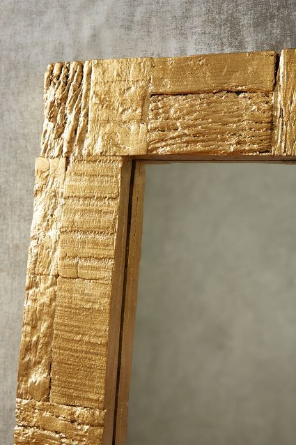 Gilded Wood Mirror Frame With Scrap Wood Metallic Gold Spray Paint Diy Easy Pinterest
