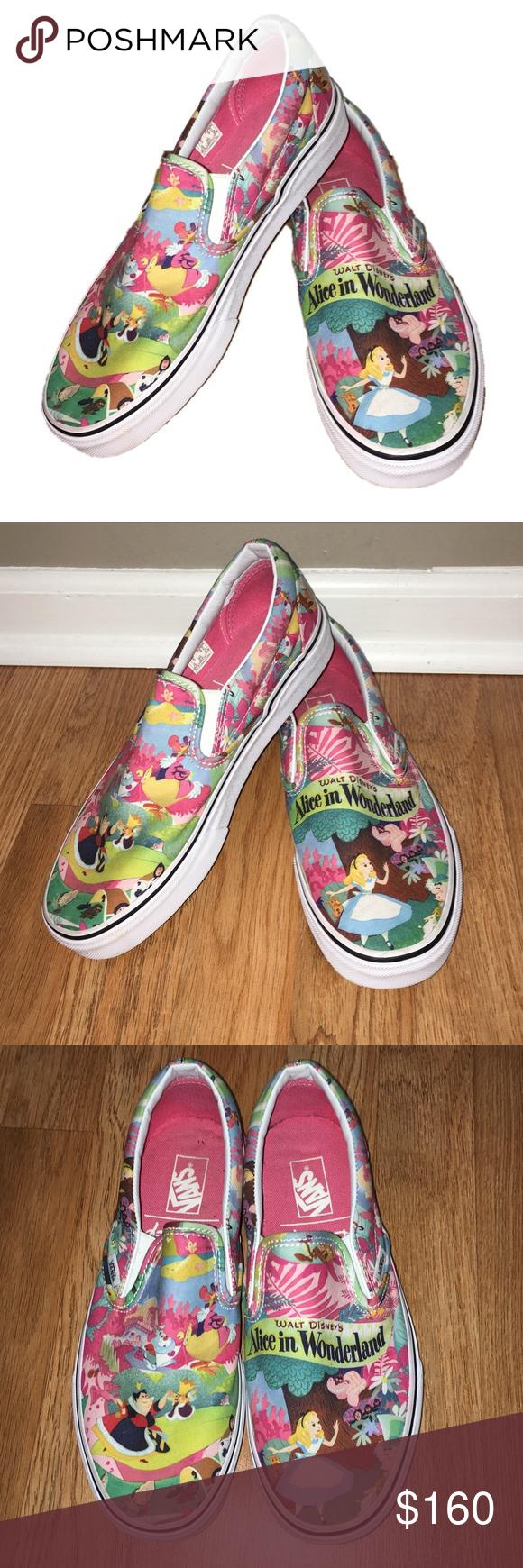 Vans Alice in Wonderland Slip On Shoes