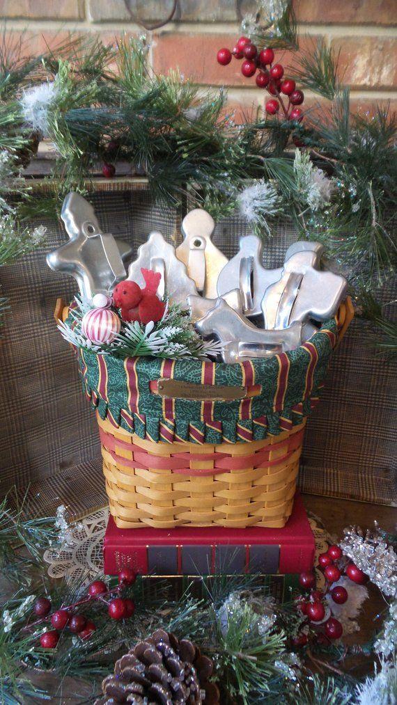 Longaberger Christmas Basket.Longaberger Christmas Collection 1998 Edition Glad Tidings