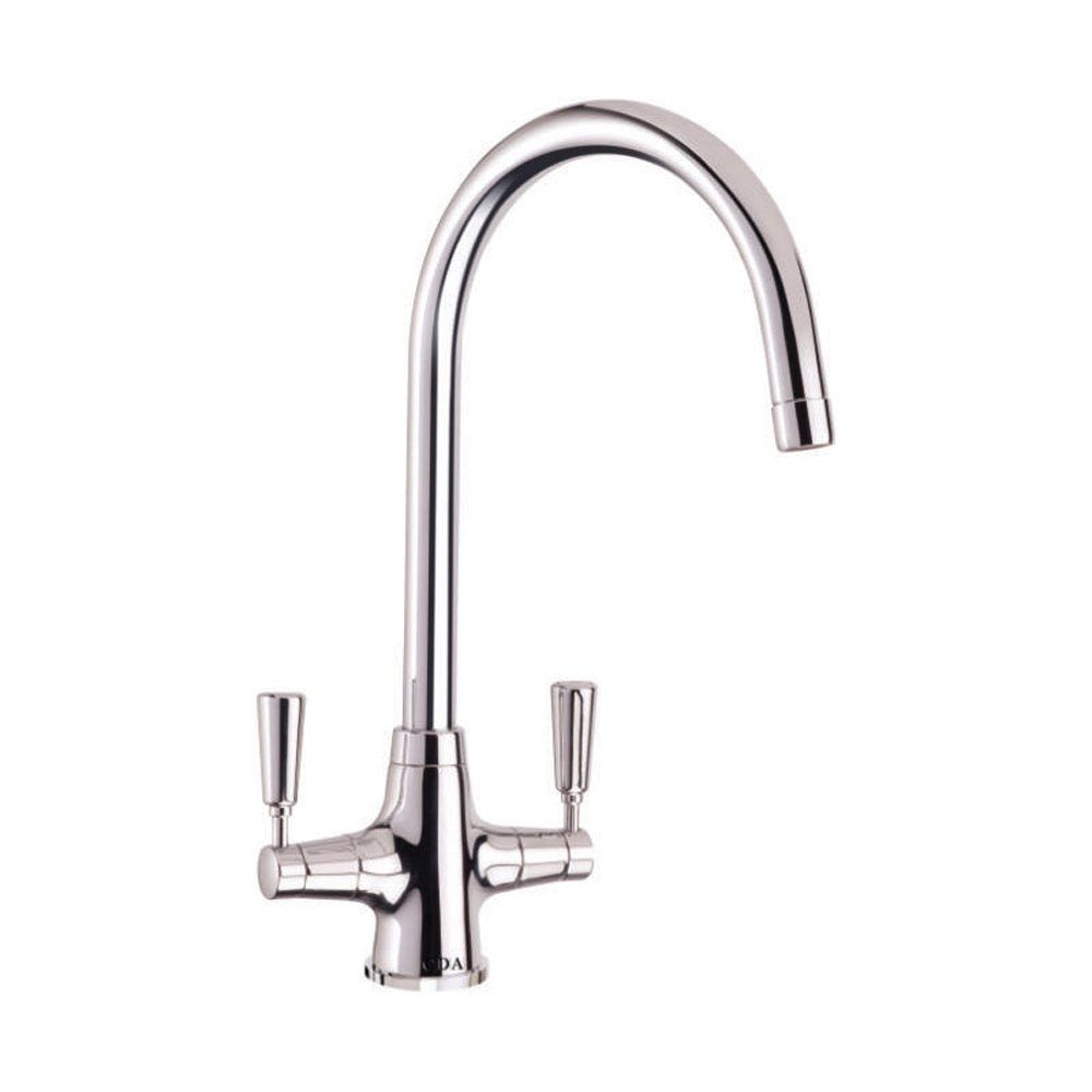 cda monobloc dual lever chrome kitchen sink tap tt41ch