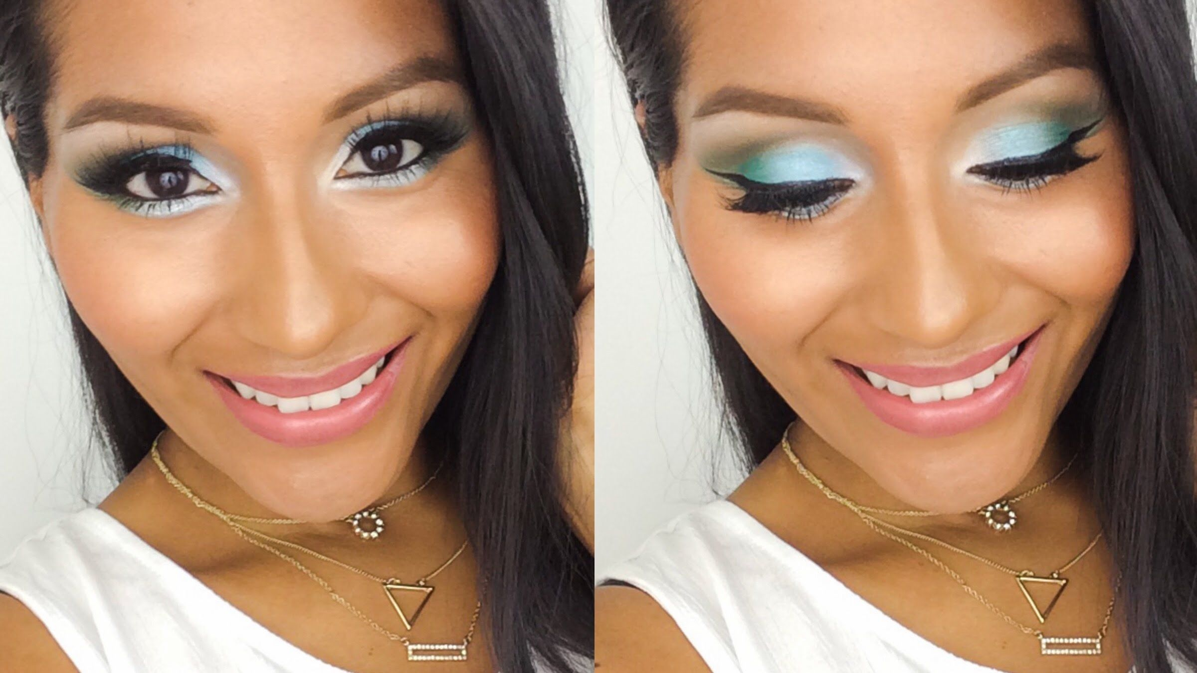 Hi Beauties! I want to share this bright spring makeup ft