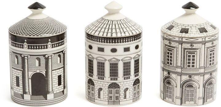 Fornasetti Set of three Architettura Otto scented candles ewwsL8RQ