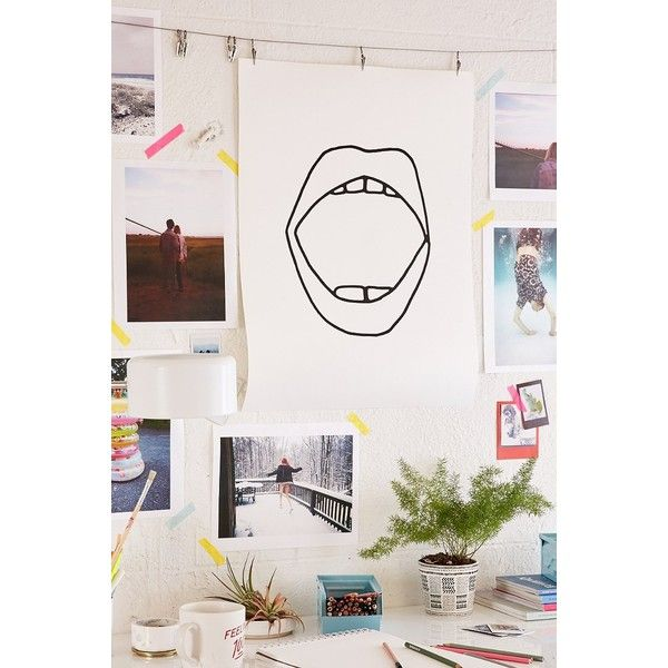 Cult Paper Mouth Art Print (25 CAD) ❤ liked on Polyvore featuring
