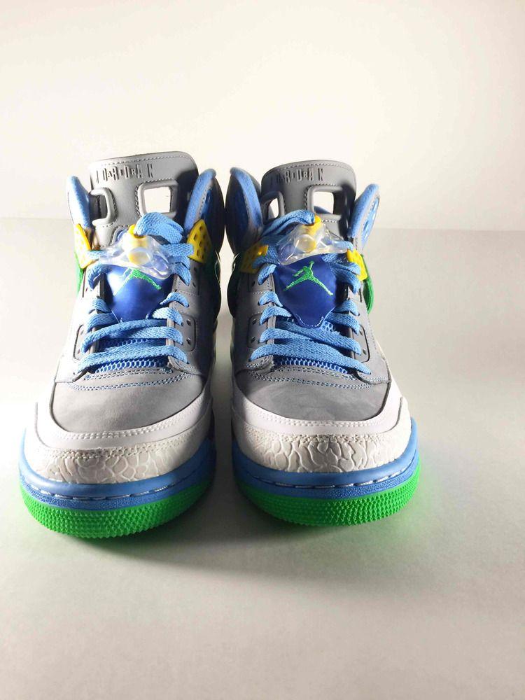 c4ed4d3cc5c7af NIKE AIR JORDAN SPIZIKE STEALTH GREY-GREEN-BLUE SZ 11.5 EASTER!  315371-056    Nike  BasketballShoes