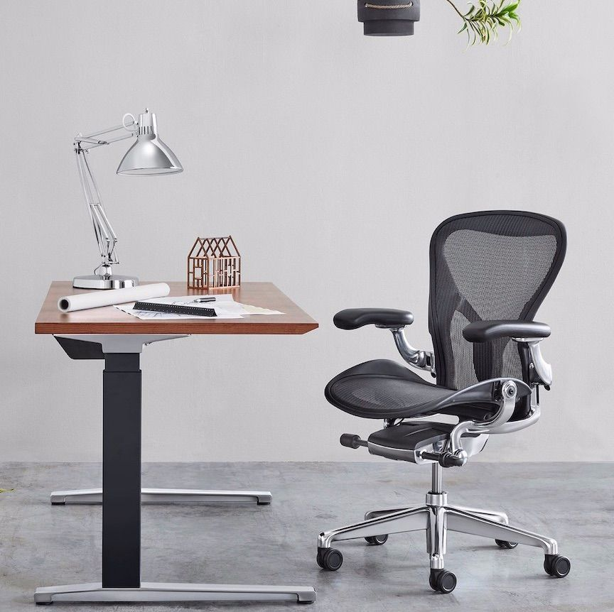 The Aeron Chair In Chrome From Hermanmiller Officechair Interiordesign Officedesign Furniture Office Chair Design Luxury Office Chairs Office Chair Parts