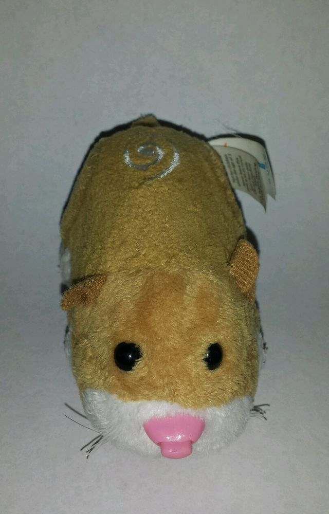 Zhu Zhu Pet Hamster Mr Squiggles Tan White With Tag Tested And Working Interactive Toys Squiggles Hamster