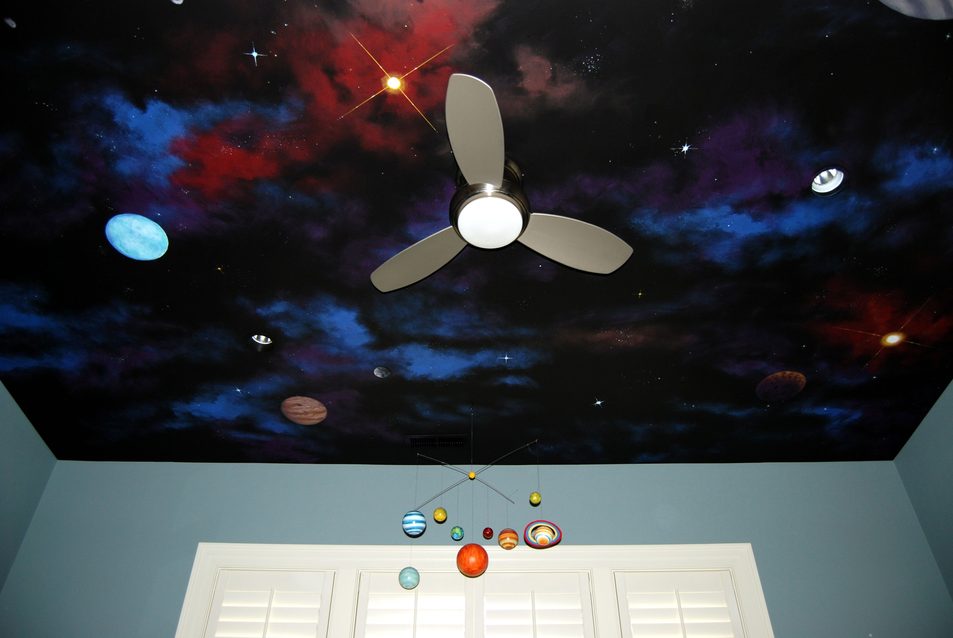 Night Sky Ceiling Background Is Behr Twilight Chimes Paint
