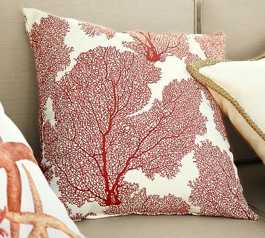 gallery embroidered branch in view coral pillow outdoor
