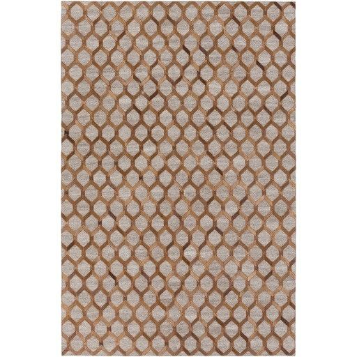 Medora Hand-Crafted Brown/Neutral Area Rug