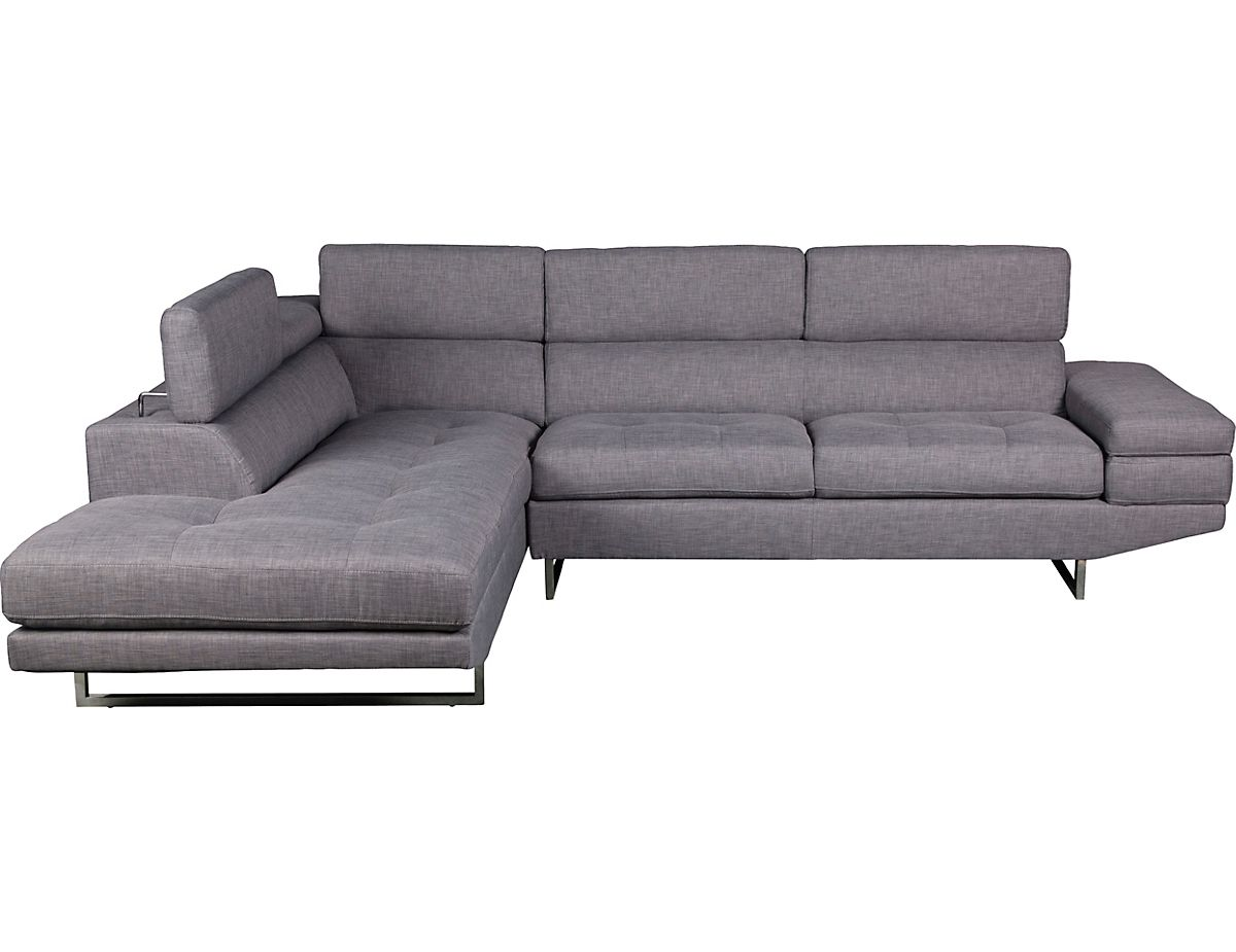 Zeke Linen Look Fabric Left Facing Sectional Platinum Zekeplsec The Brick Sectional Sectional Sofa Leather Sofa