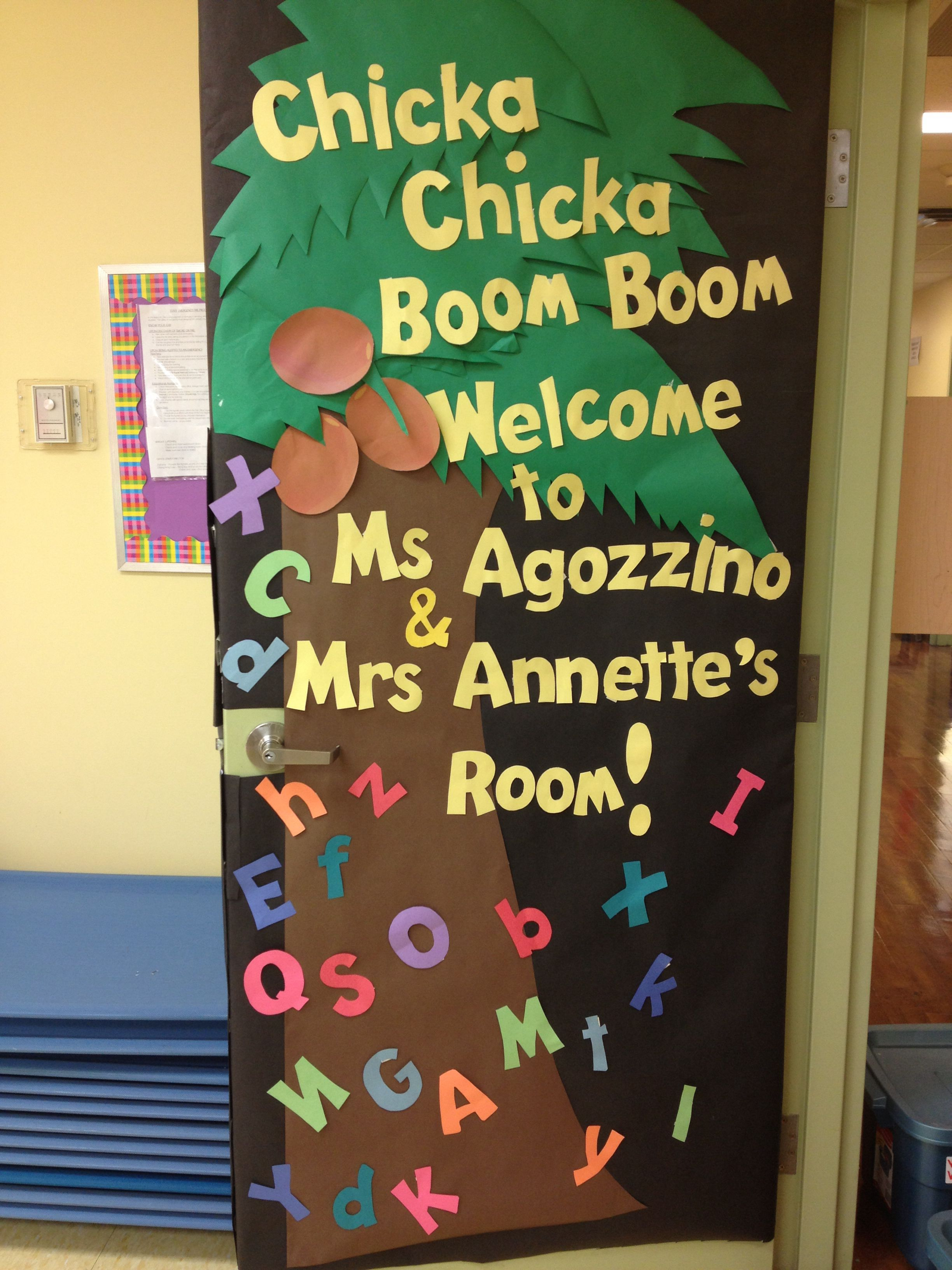 Chicka Chicka Boom Boom First Day Of School Welcome Door
