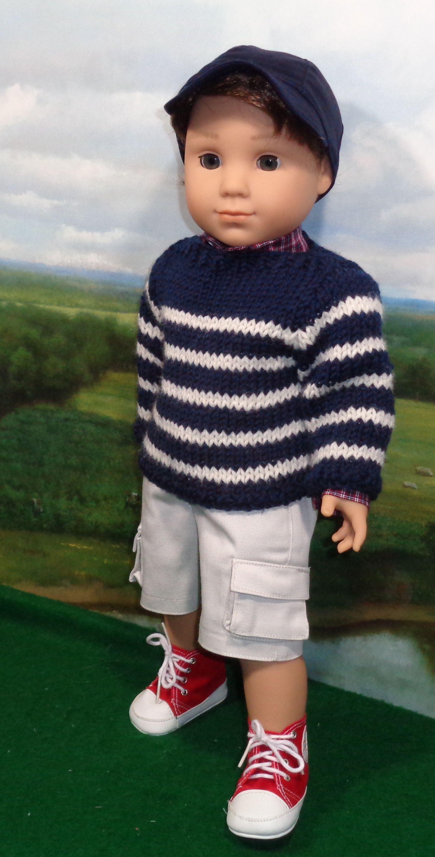 Breton Sweater Set | Doll Knit Patterns | Pinterest