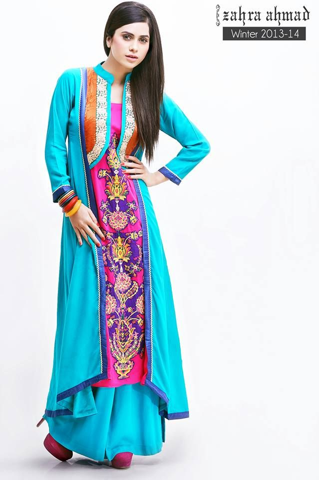 58670d32eb58 Zahra Ahmad Spring Summer Lawn Dresses 2015-16 for Women