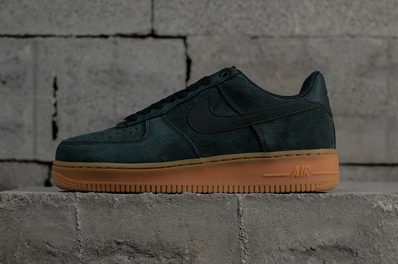 Nike Air Force 1 '07 Suede Sneakers In Green AA1117 300 Nike