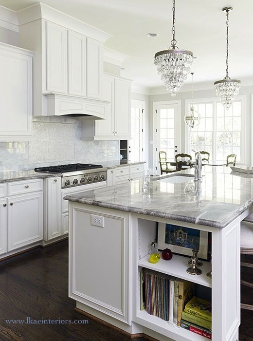 Stunning White Kitchen Features A Pair Of Pottery Barn Clarissa