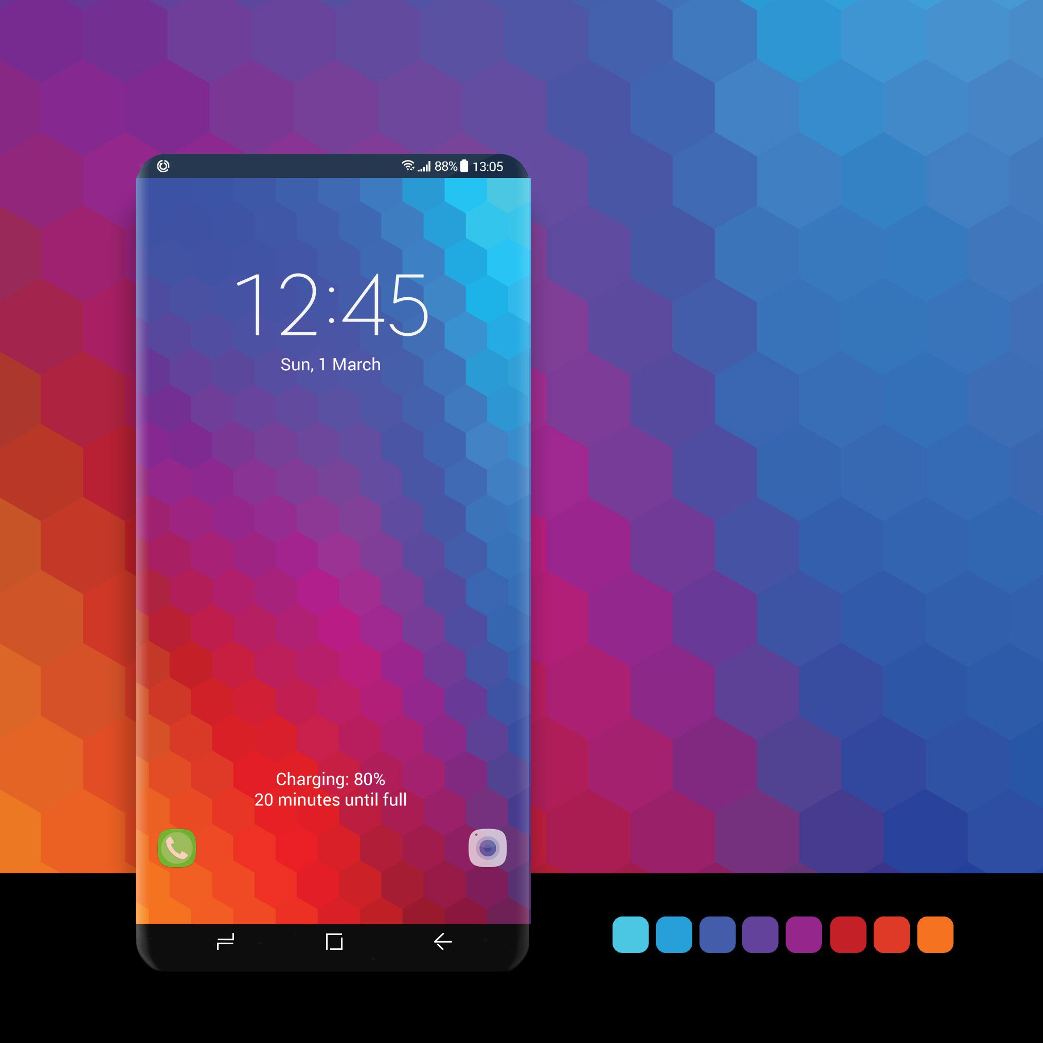 Rainbow Honeycomb Background Samsung Galaxy Wallpaper Phone Themes Galaxy
