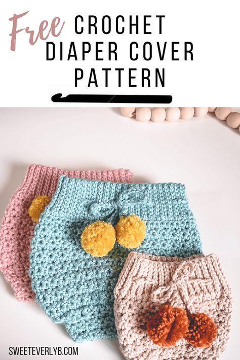 A Modern High Waisted Crochet Diaper Cover Pattern Pinterest