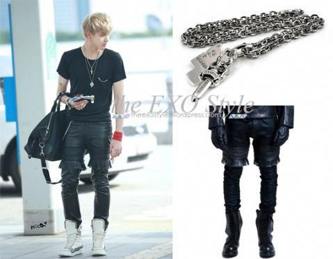 95fa092eda44 Kris – CHROME HEARTS   KTZ As seen at Incheon Airport departing to Malaysia