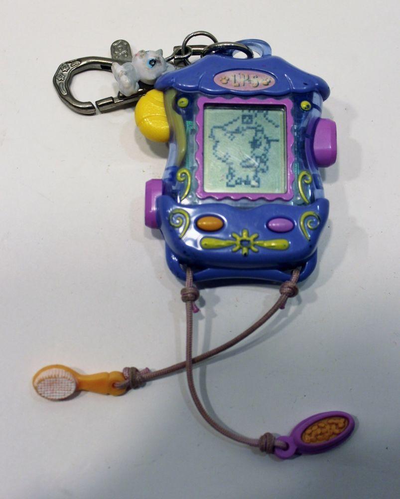 2006 Littlest Pet Shop White Dog Digital VIRTUAL PET Electronic Game  Keychain 0e2c115df