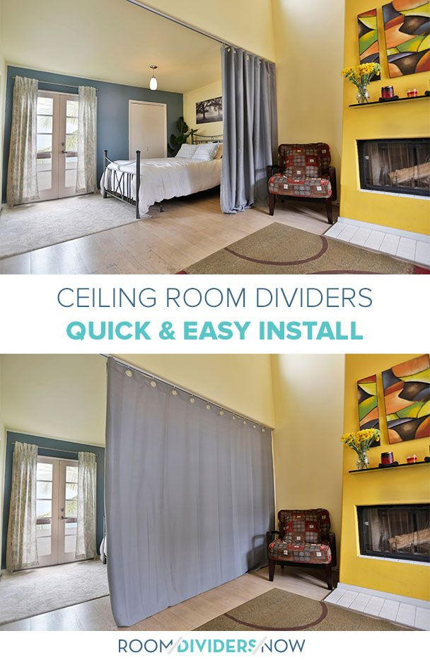 It's Easy To Divide Small Spaces With These DIY Curtain
