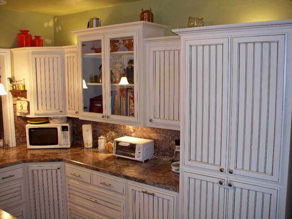 A Complete Kitchen That Was Done With Beadboard Inlays On Each Door Beadedface Woodshopb Beadboard Kitchen Beadboard Kitchen Cabinets Kitchen Cabinet Design