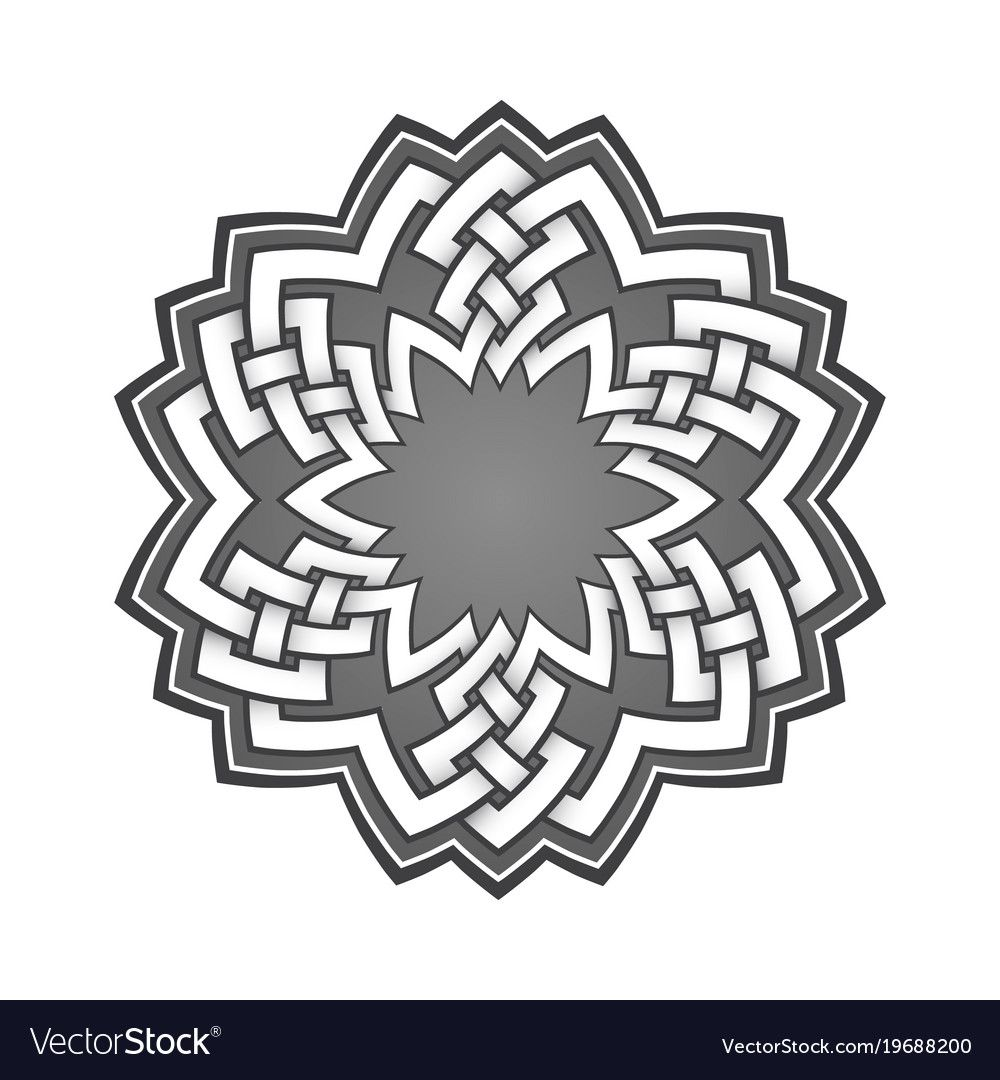 Logo Template In Celtic Knots Style Stylish Tattoo Symbol Tribal
