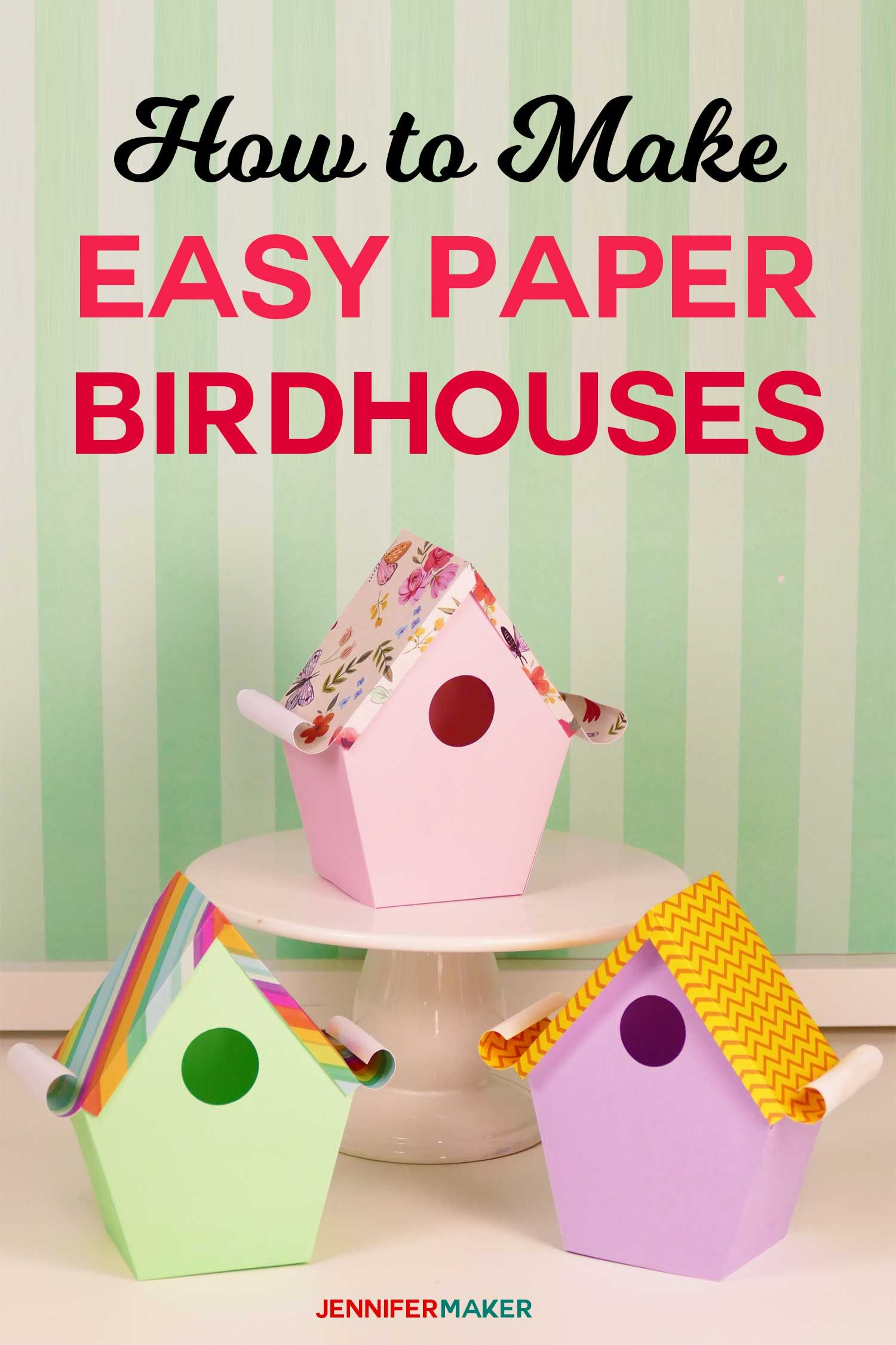 Make Cute Paper Birdhouses With These Birdhouse Template Patterns