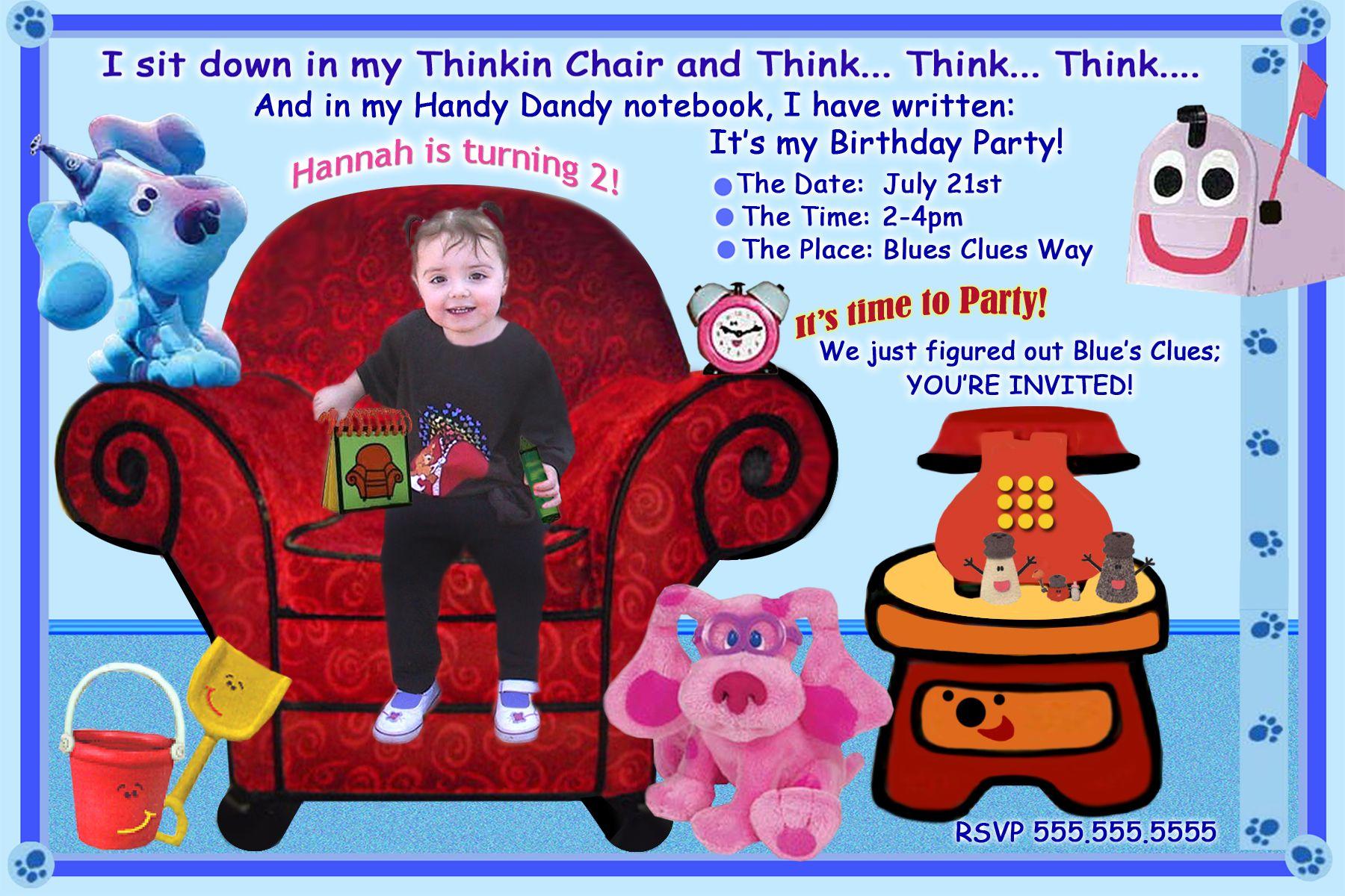 Free Blues Clues Birthday Invitations Ideas Printable Birthday Invitations Birthday Party Invitations Printable Free Printable Birthday Invitations
