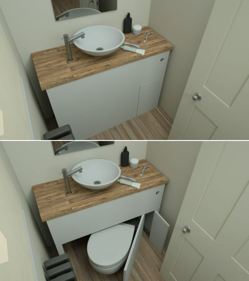 Photo of Hidealoo: Retractable Toilet Seat can be Installed Anywhere in your Tiny House