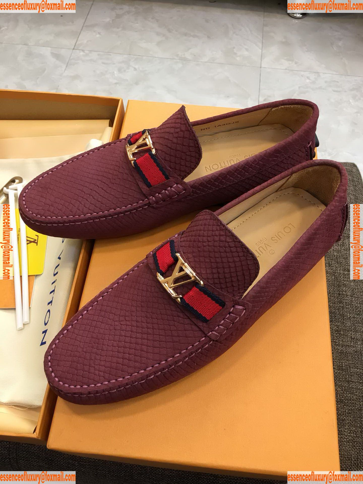 Louis Vuitton Leather Driving Flat Lv Designer Shoes 38 To 44