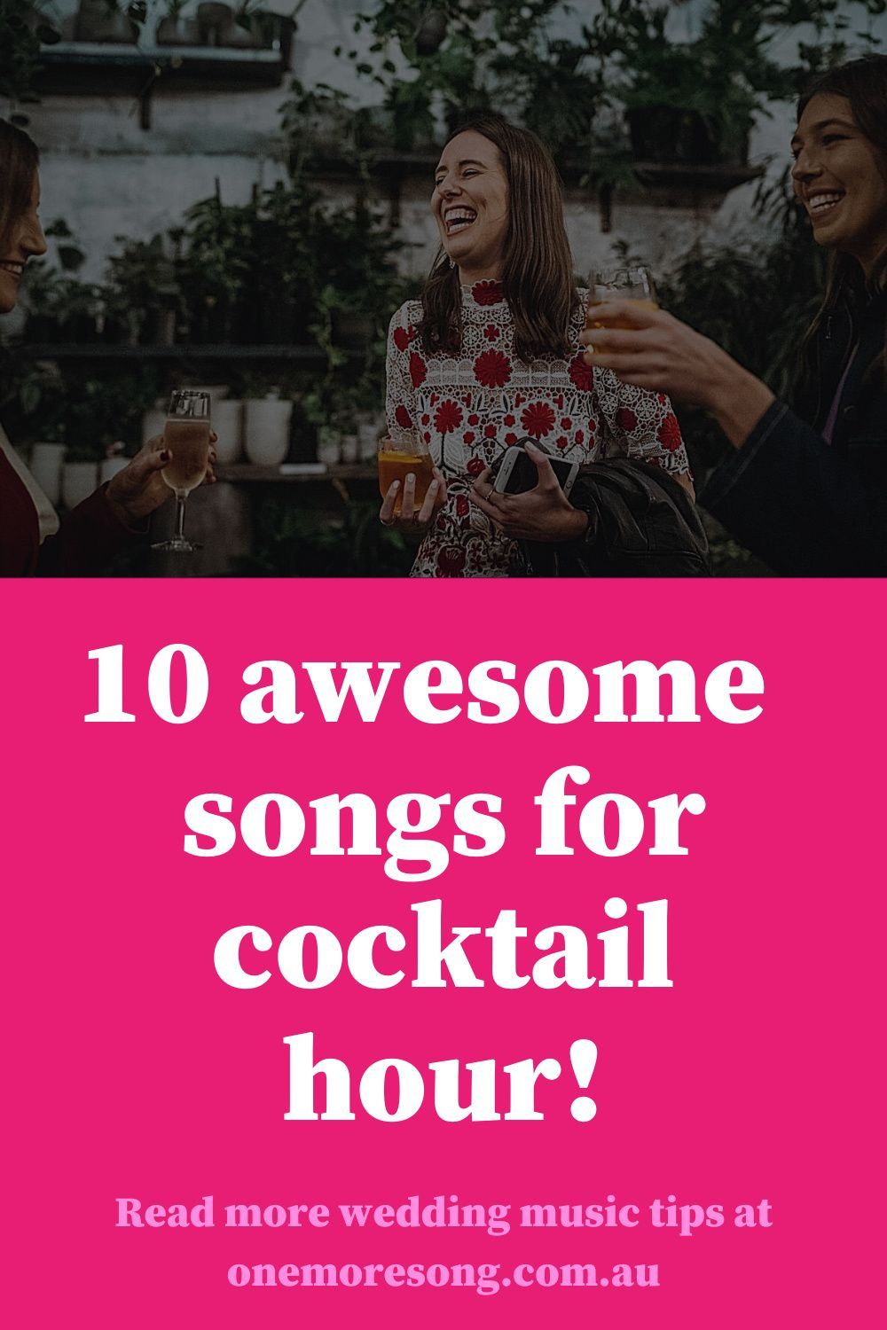 How do you set the right vibe for your wedding cocktail hour? Melbourne's One More Song DJs provide a list of 10 songs to play post ceremony. It's all about getting people in the mood for an amazing night! #weddingmusic #melbournedj #melbourneweddingsupplier #weddingdj #weddingblog Photo credit: Lulu & Lime.