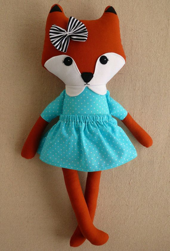 Reserved for Amanda  Fabric Doll Rag Doll Stuffed by rovingovine, $36.00
