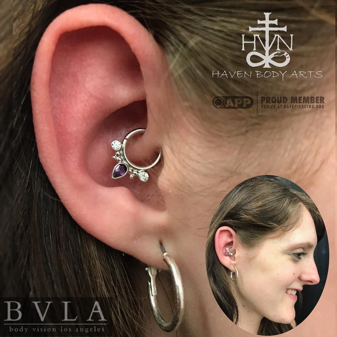 Piercing nose with ring   Likes  Comments  Haven Body Arts havenbodyarts on