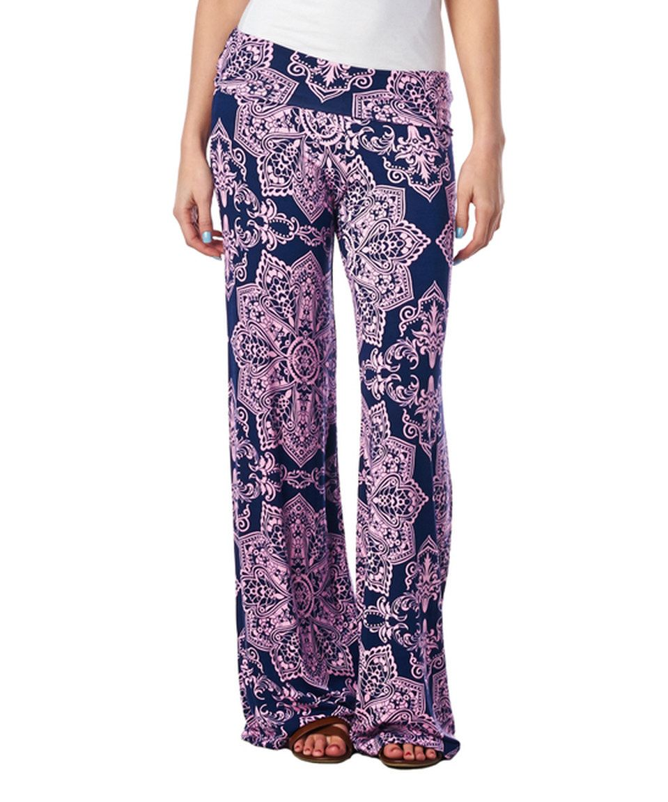 Look what I found on #zulily! Brooke & Emma Pink Medallion Palazzo Pants by Brooke & Emma #zulilyfinds